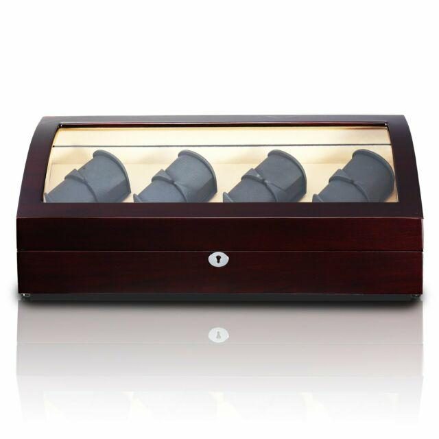 Watch Winder Box for 8 + 8 Watches in Mahogany