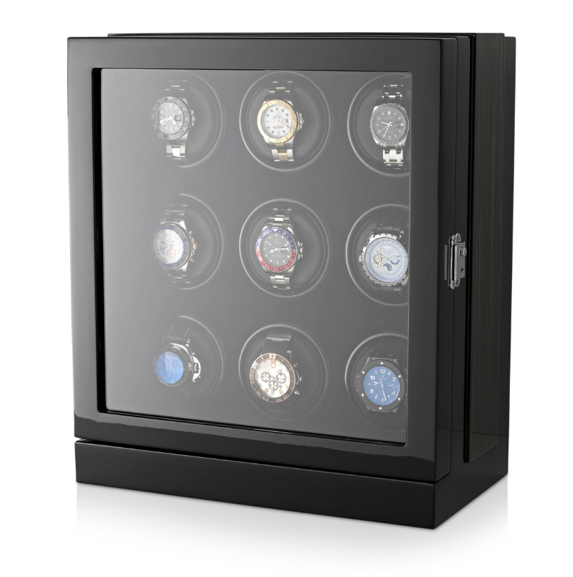 Watch Winder Box for 9 Watches in Black