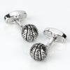 Silver Basketball Cufflinks