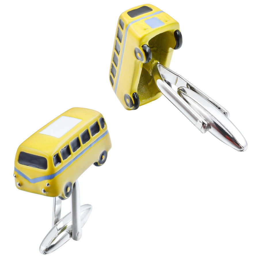 Yellow VW Kombi Cufflinks