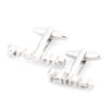 Grooms Father cut-out style Wedding cufflinks