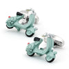 Light Blue 3D Vespa Scooter Cufflinks