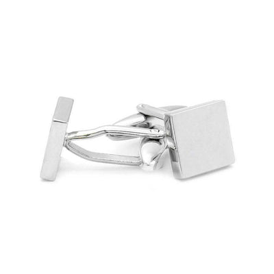 Small Silver Square Engravable Cufflinks