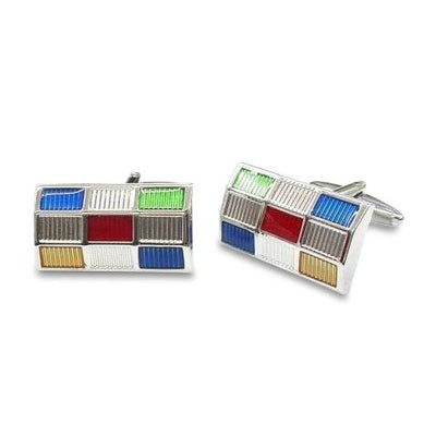 Multi-Coloured Reflections Cufflinks