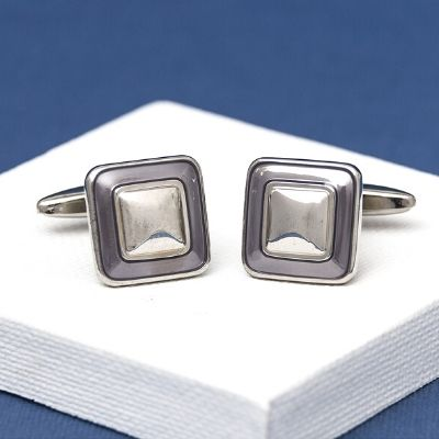 Light Purple Square Cufflinks