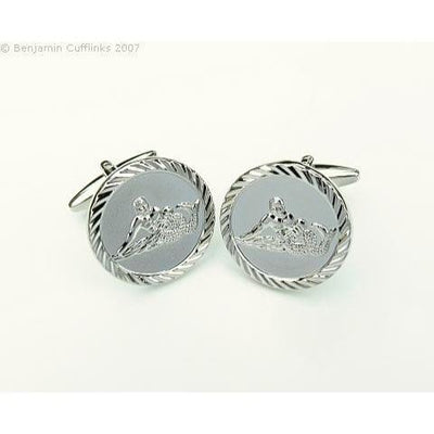 Aquarius Water Carrier Cufflinks (Round)