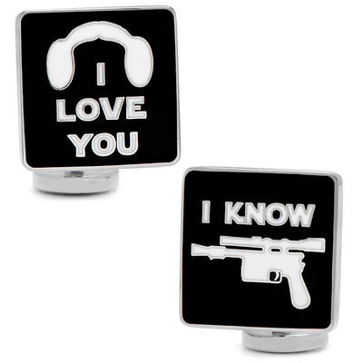 Star Wars I Love You I Know Symbol Cufflinks