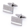 Father of the Bride Laser Etched Mother of Pearl Gunmetal Wedding Cufflinks