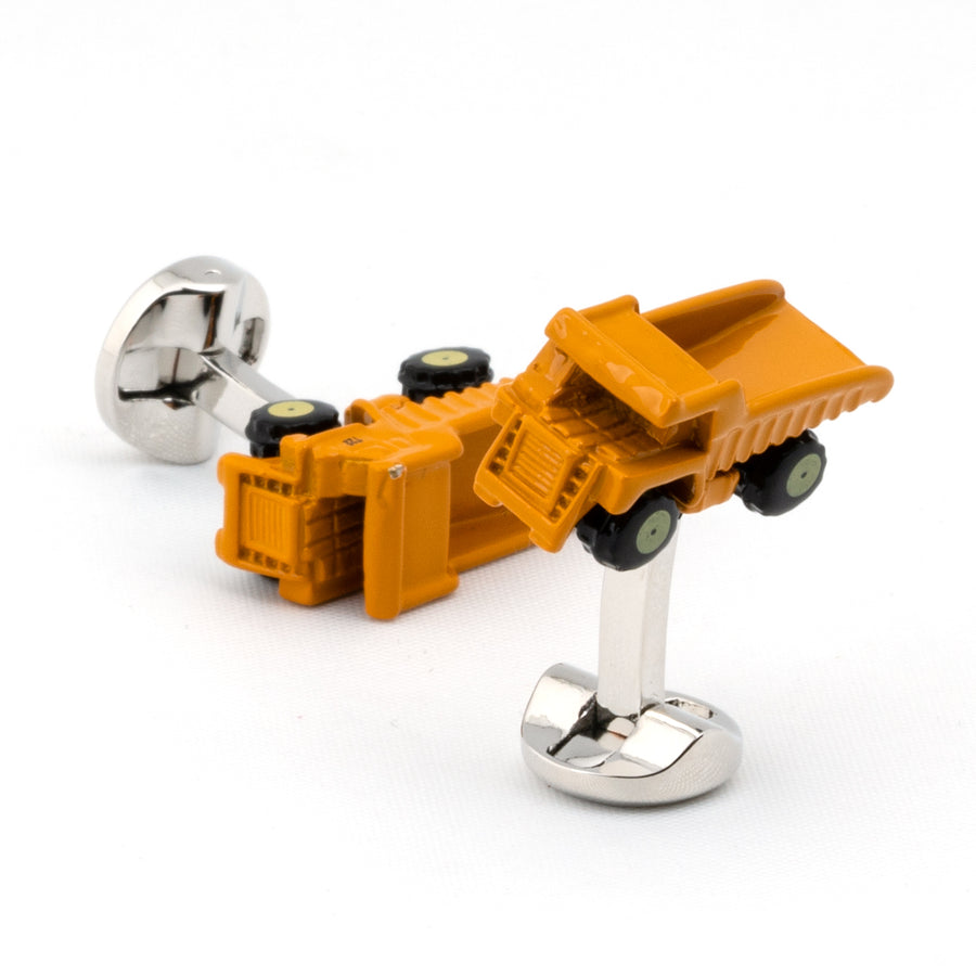Yellow Dump Truck Cufflinks