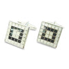 BlackWhite Tiled Mosaic Cufflinks