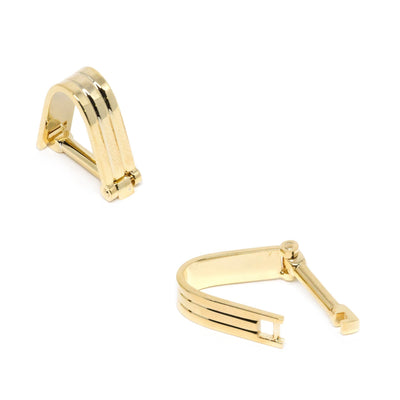 Wrap Around Gold Groove Cufflinks