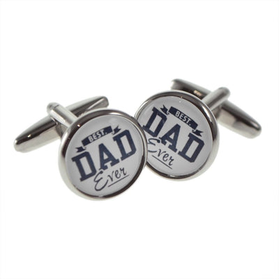 Best Dad Ever Round Cufflinks