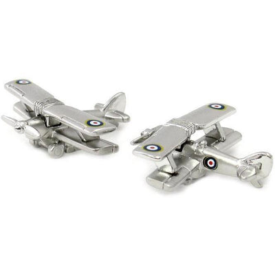 BiPlane Military Aircraft Cufflinks