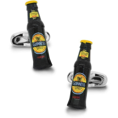 Black & Yellow Beer Bottle Cufflinks