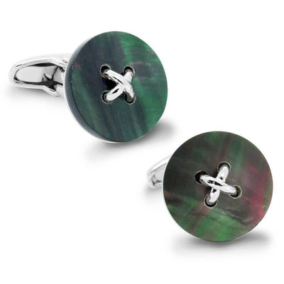 Black Mother of Pearl Button Cufflinks
