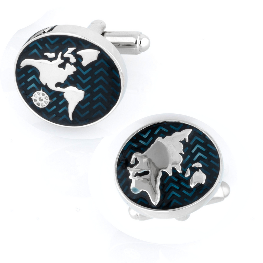 The New World Map Cufflinks