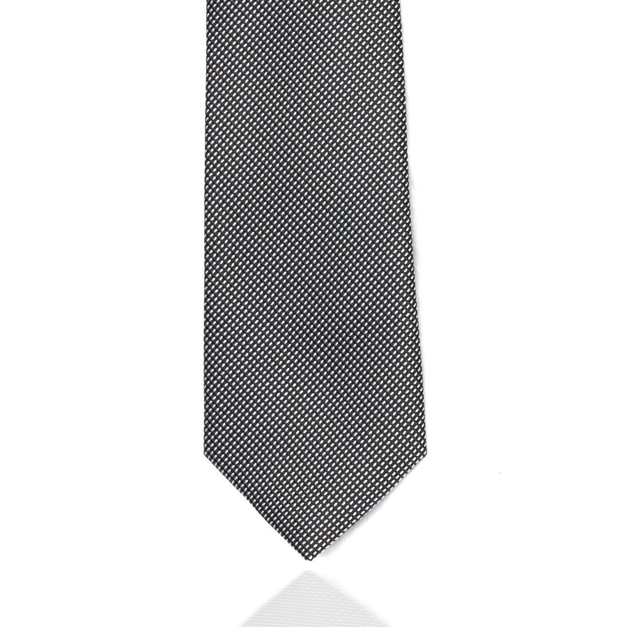 Silver and Black Weave MF Tie