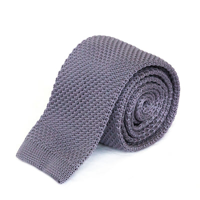 Dark Grey Knit Tie