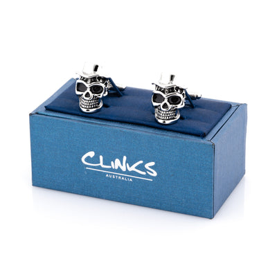 Skull with Top Hat Cufflinks
