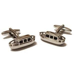 Canal Barge or Narrowboat Cufflinks