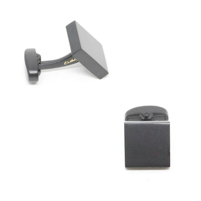 Matte Black Square Cufflinks