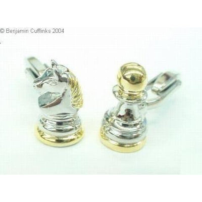 Chess Cufflinks: Knight & Pawn