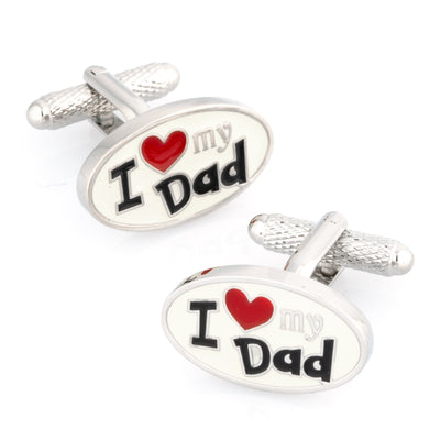 I Love My Dad Cufflinks Oval