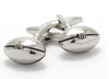 Footy / Rugby Silver Football Cufflinks