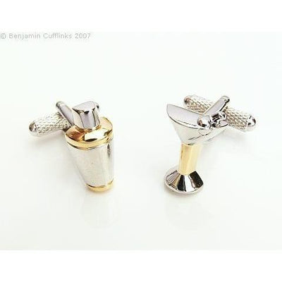 Cocktail Shaker Glass Cufflinks