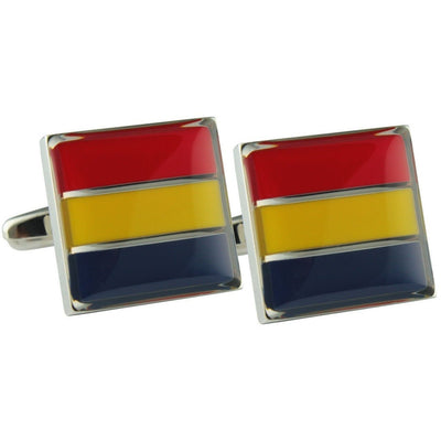 Colour Adelaide Crows AFL Cufflinks