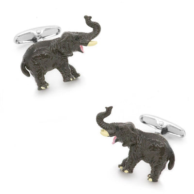 Colour Enamel Elephant Cufflinks