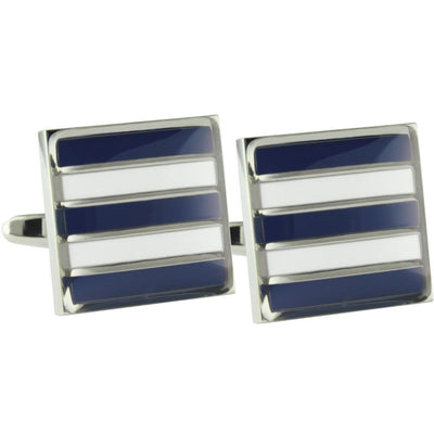 Colour Geelong Cats AFL Cufflinks