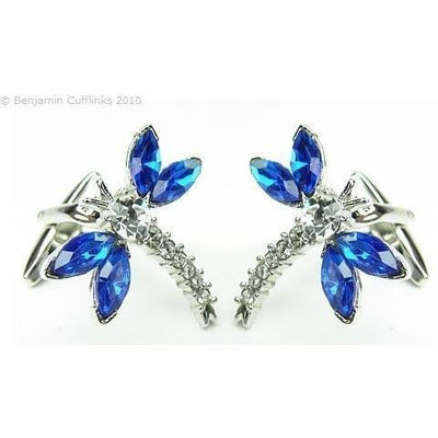 Crystal Dragonfly Cufflinks