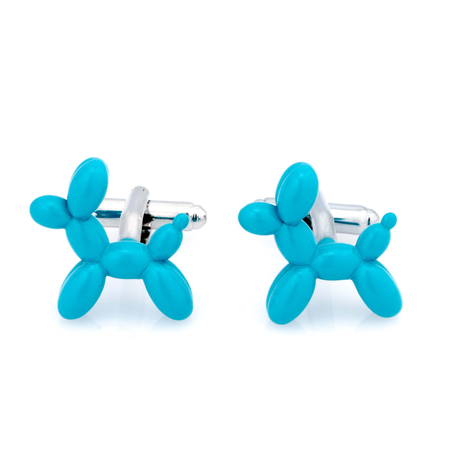 Aqua Blue Balloon Dog Cufflinks