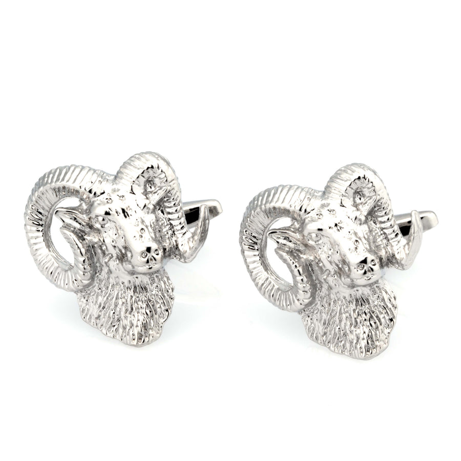 Silver Ram Sheep Cufflinks