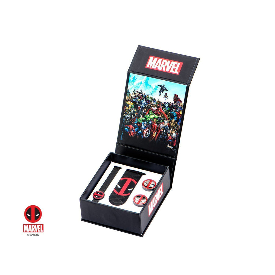 Marvel Deadpool Gift Set with Cufflinks Tie Bar and Money Clip