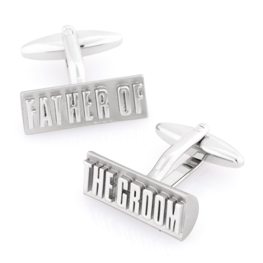 Father of the Groom Raised Lettering Cufflinks