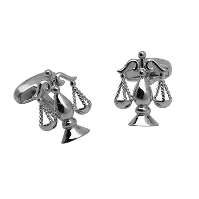 Scales of Justice Silver 2 Cufflinks