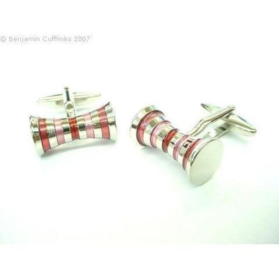 Double Barrel PinkRed Cufflinks