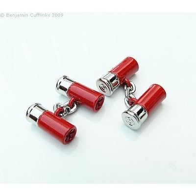 Double Cartridges Red (with chain) Cufflinks