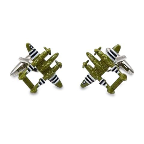 P38 Lightening Aircraft Cufflinks