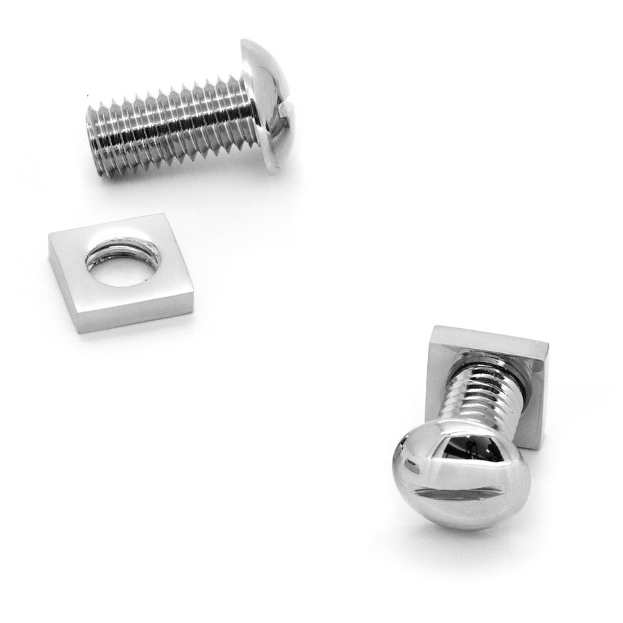 Functional Silver Nut and Bolt Cufflinks