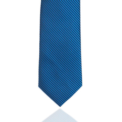 Electric Blue and Black Stripe MF Tie