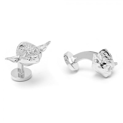 Star Wars 3D Palladium Yoda Cufflinks