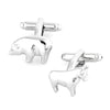 Bull and Bear Silver Cufflinks