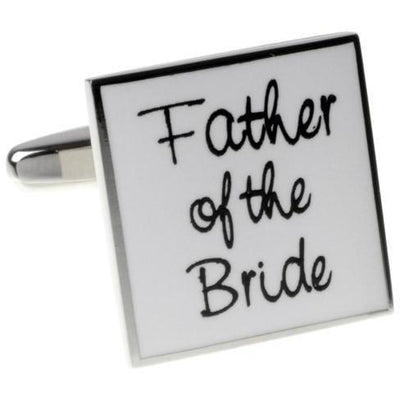 Father of the Bride White  Wedding Cufflinks