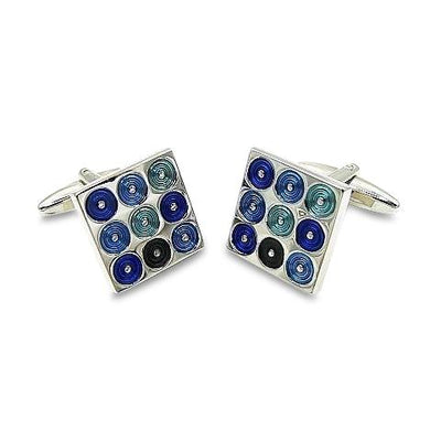 CD Spinner Blue Cufflinks