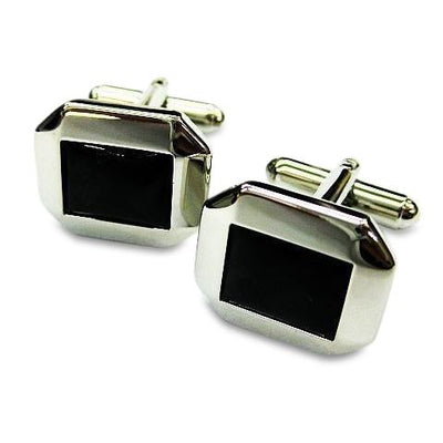 Cutoff Black Square Cufflinks