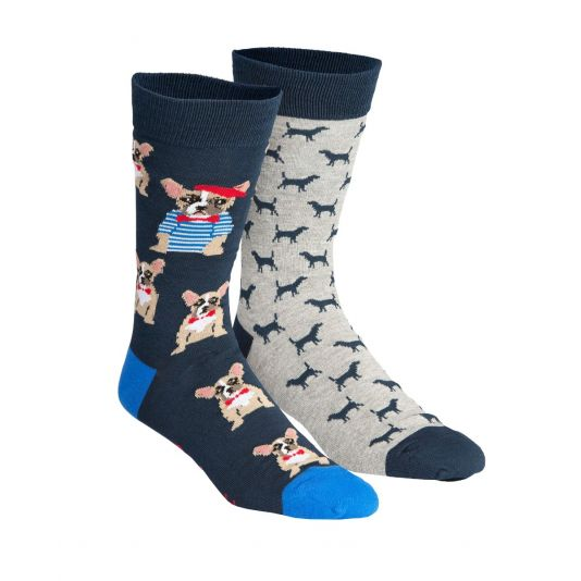 Frenchy Dogs 2 pair Socks Gift Box