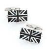 Union Jack - Flag of England UK Cufflinks in Onyx and Mother of Pearl